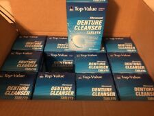 Top Value Effervescent Denture Cleanser 90 Tablet Boxes (Lot Of 12) Brand New