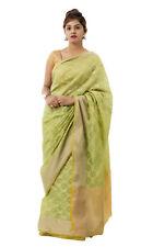 Banarasi Green Saree Party Wear Indian Pakistani Ethnic Wedding Designer Sari