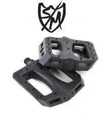 "NEW S&M GNS BMX Bike Pedals & Sticker Black 9/16"" Crmo Axle Platform Primo T1"
