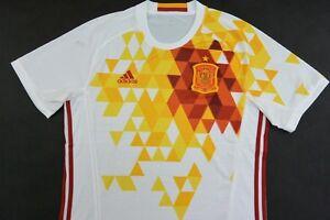 adidas Spain ESPANA Away Euro 2016 Shirt Football Jersey SIZE L