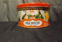 Vintage Ludens OLE SOUTH Candy Tin Canister
