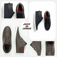 Mens Designer Jack Jones Jeans Hi Top Canvas Footwear Trainers Shoes Pumps Chino