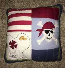 "Quilted pirate pillow 20x20"" decorative"