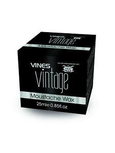 VINES VINTAGE - Moustache/ Mustache Wax 25ml Mens Grooming