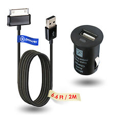 "CAR long USB Ac Adapter Charger for SAMSUNG GALAXY TAB 7 8.9"" P3100 P7300 N8000"