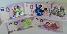 Pack 5 Billets Euro Souvenir Schein Gold Edition Limitée Mercury Anniversary +