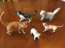 Hard Rubber Cat Figurines Lot of 5
