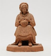 ANTIQUE FRENCH EUGENE BLOT TERRACOTTA FISHERWOMAN c.1856