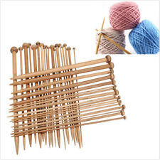 36Pcs 18 Sizes Bamboo Knitting Needles Set Single Crochet Needles Needle Tools