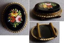 Bijou coulant passant de collier en micro-mosaique micro mosaico 19e siècle
