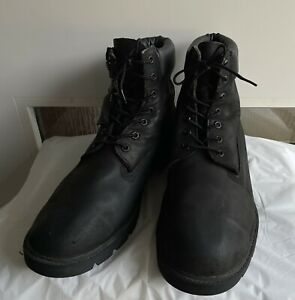 Timberland Waterproof Black Nubuck Leather Mens Boots Size 14W. (19039)