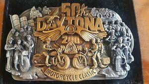 1991 Limited Bergamot Silver Belt Buckle - 50th Daytona 200 Motorcycle Race