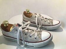 Women's Converse White canvas plimsolls trainers shoes UK 4 EU 37