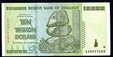 used ZIMBABWE 10,000,000,000,000 Dollar Banknotes  10 TRILLION 2008 P88