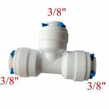 "3/8""  Tube OD 3 way Union Tee Quick Connect Fitting RO Water Reverse Osmosis"