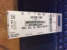 2016 washington nationals vs chicago cubs eintrittskarte 6/15 anthony rizzo hr