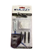 NEW Muzzy 225-3W Broadheads 100 Grain 3 Blade 3 Pack