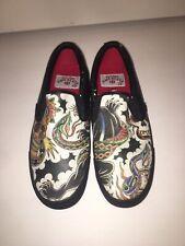 Draven Tokyo Hiro Mens Slip On Shoes Classic Tattoo Design Size 9
