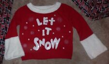 NEW CHRISTMAS UGLY Holiday Sweater Women Ladies M Boat Wide Neck Snow NEW NWT