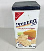 Vintage Nabisco Saltine Premium Crackers Tin Can 1985 (English and Spanish)