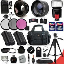 Xtech Kit for Nikon D7100 PROFESSIONAL 32 Piece w/ 2X + Wide Lenses +Flash +MORE