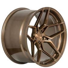 "4ea 22x10.5/22x11.5"" Staggered Rohana Wheels RFX11 Brushed Bronze Rims (S5)"