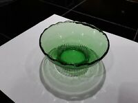 Vintage Green Candy Dish E. O. BRODY CO. Glass Bowl , M2000 . Cleveland U.S.A.