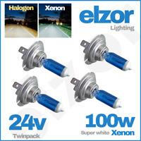 Daf Xf 24v Headlight 95 - 105 02 499 100w Bulbs Xenon Super Bright White Upgrade