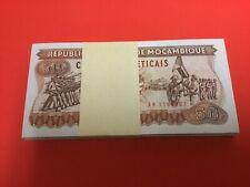New listing Mozambique 50 meticais 1986 #129b Bundle 100 pcs Uncirculated