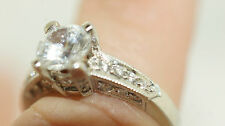 New Tacori Platinum Engagement Ring Setting BA4190 Holds 1ct Round Center