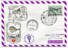 1968 IFA Ballonpost Pro Juventute Aerostato OE-DZB Austria HB-BOE Svezia Schweiz