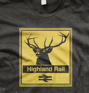Highland rail class 47 diesel model railway t shirt