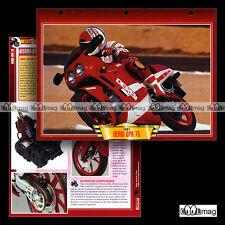 #093.10 Fiche Moto DERBI GPR 75 1991 Motorcycle Card
