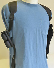 "5"" Barrel Revolver Shoulder Holster with Ammo Pouch for RUGER GP100"