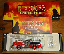 NIB Corgi Heroes Under Fire Diecast Fire Engine Bethpage Mack CF Pumper 1:50
