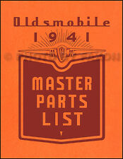 Oldsmobile Illustrated Master Parts Book 1941 1940 1939 1938 1937 Olds Catalog