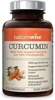 NatureWise Curcumin Turmeric 2250mg | 95% Curcuminoids & BioPerine Black Pepper