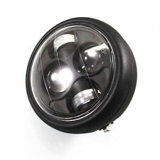 LED Metal High Low Beam HeadLight Lamp For Honda  Shadow 1100 ACE1100 750 Black