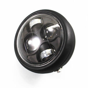 LED Metal High Low Beam HeadLight Lamp For Honda  Shadow 1100 ACE1100 750 Black