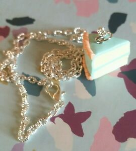 Vintage Piece of Cake Necklace Retro Classic Gift Bake GBBO Cute Sweet Cake