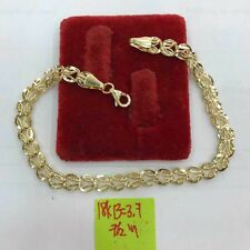 Gold Authentic  yellow gold bracelet 18k saudi gold 7.5inches