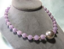 """Test Silver & Amethyst Bead Necklace 16"""" long"""