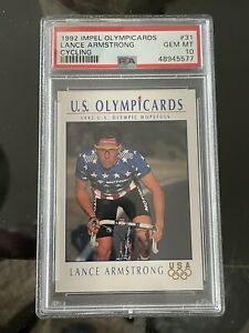 1992 Impel US Olympicards LANCE ARMSTRONG RC ROOKIE PSA 10 GEM MINT