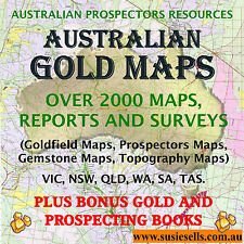 Australia Gold Prospecting Detecting Topography Fossicking Maps Reports Book.