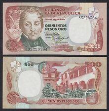 Colombia - 500 Pesos Oro  12-10-1985  Pick 423c  SC = UNC
