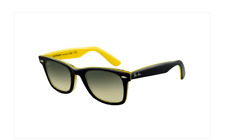 Great Condition Black & Yellow Ray Ban Wayfarer Sunglasses w/Case - $185 Retail