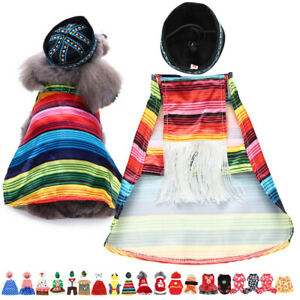 Pets Dogs Cats Christmas Santa Elf Witch Gift Fancy Dress Costume Outfit Clothes
