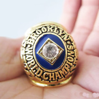 1955 LA - Brooklyn Dodgers Championship Ring World Series 18k GOLD PLATE *USA*
