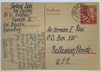 1949 BAD SEGEBERG GERMANY POSTCARD TO FLORIDA