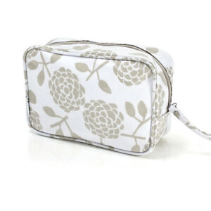 NEW  Dandi Travel Cosmetic Bag - Floral Beige Toilet Bag